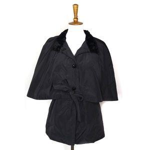 4006d844d805 Betsey Johnson · Betsey Johnson black cape raincoat ...